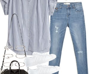 clothes, outfit, and sneakers image