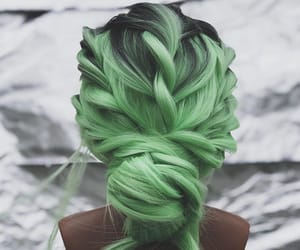 green, hairstyle, and instagram image