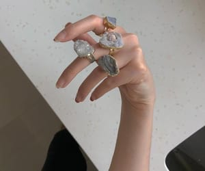 aesthetic, rings, and girl image