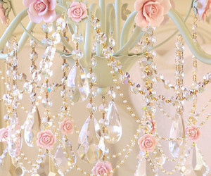 chandelier, pink, and rose image