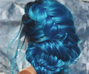 blue, bluehair, and braids image