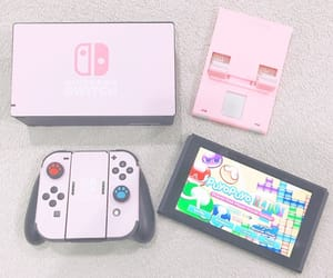 console, pink, and game image