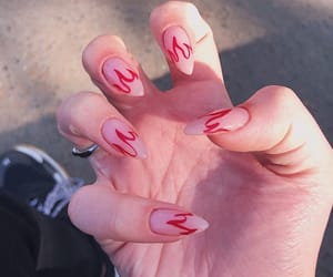 fire, fire nails, and manicure image