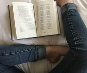 bedroom, book, and girl image