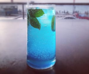 blue, cocktail, and mint image