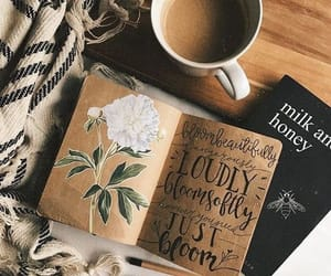 coffee, book, and art image