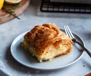 dessert, syrup, and greek food image