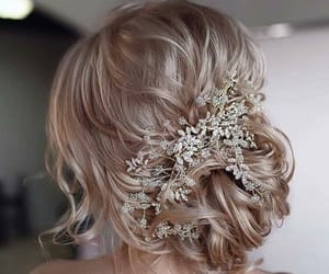 accessories, blond, and hair image