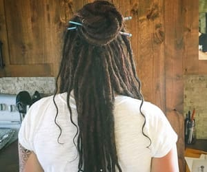 dreadlocks, dreads, and hair pins image