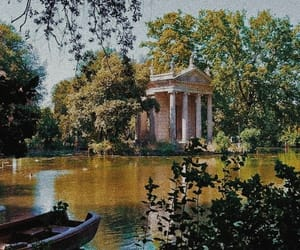 boat, gardens, and italy image