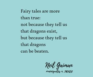 dragon, fairytale, and Neil Gaiman image