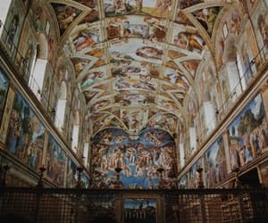fresco, italy, and michelangelo image