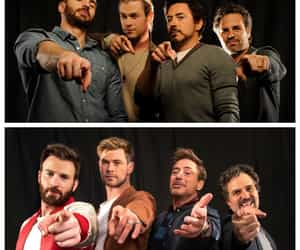 Avengers, chris evans, and mark ruffalo image