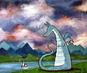 art, children decor, and dragon art image