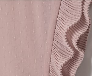 H&M, pink dress, and pleats image