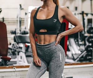 body, brunette, and fit image