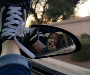 girl, tumblr, and car image