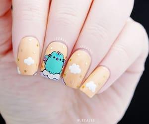 beauty, nail art, and cat image