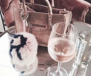 bag, drink, and pink image