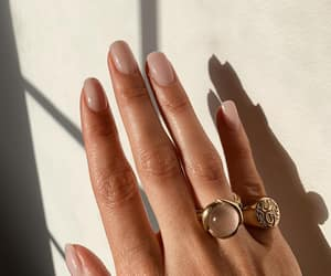 nails, Nude, and jewelry image
