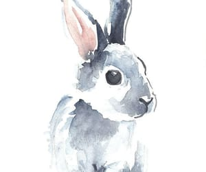 art, bunny, and watercolour image