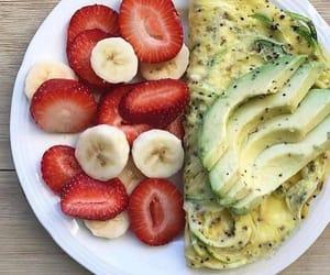 avocado, banana, and food image