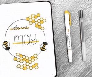 bee, honey, and may image
