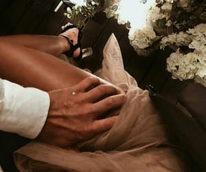 body, fashion, and flowers image