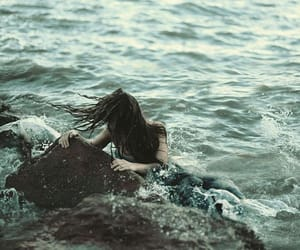 sea, mermaid, and water image