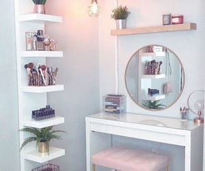 home, makeup, and white image