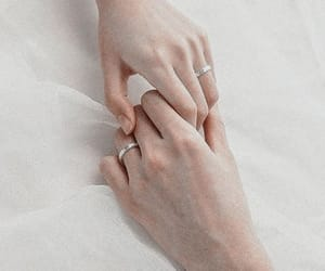 couple, rings, and gods image