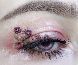 flowers, makeup, and pink image