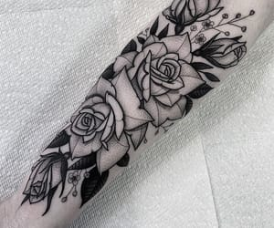 flowers, inked, and tattoo image
