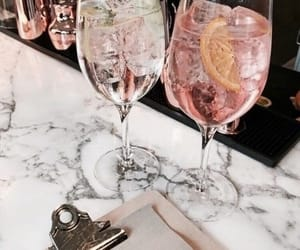 drink, cocktail, and pink image