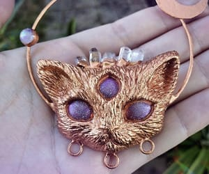 cat, creepy, and crystal image