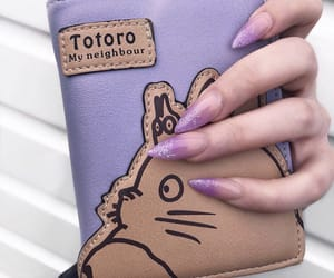 aesthetic, totoro, and glitter image