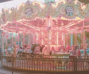 pink, aesthetic, and carousel image