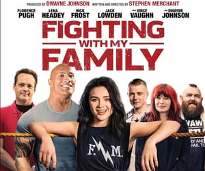 Dwayne Johnson, película, and fighting with my family image