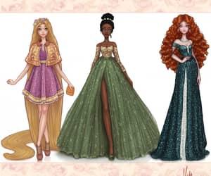 art, disney princess, and fashion art image