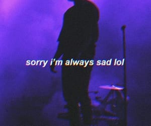 dark, quote, and sad image