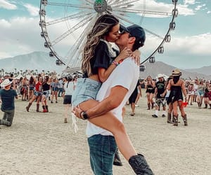 couple, coachella, and fashion image