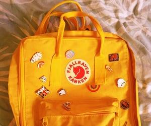 aesthetic, bag, and yellow image