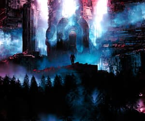 architecture, fantasy, and forest image