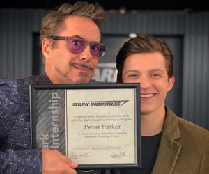 tom holland, Marvel, and iron man image