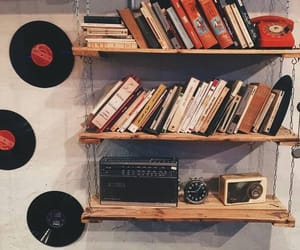 books, music, and vintage image