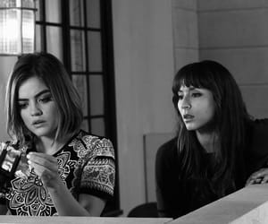 lucy hale, troian bellisario, and spencer hastings image