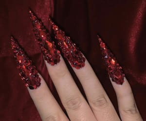 moda, nails, and red image