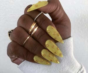nail art, claw inspo, and yellow nails image