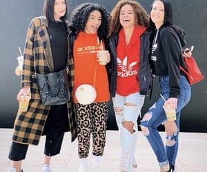 big hair, friendship, and hoodie image