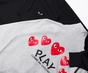 clothes, heart, and comme des garcons image